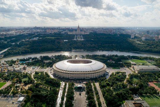 Москва спортивная. Взгляд с высоты. Москва-Сити