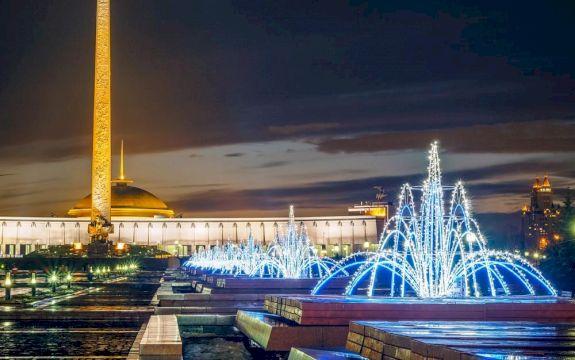 Новогодняя феерия вечерней Москвы с поездкой по канатной дороге